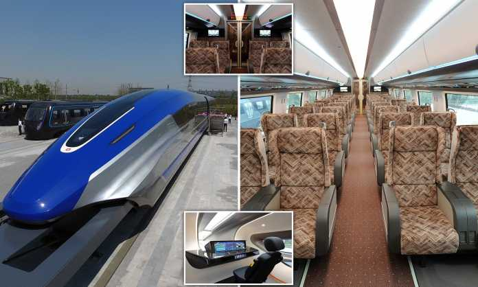China Unveils Its Magnetic Levitation Train That 'Can Travel at 600kmh'