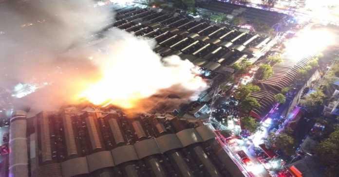 FIRE AT BANGKOK'S CHATUCHAK MARKET