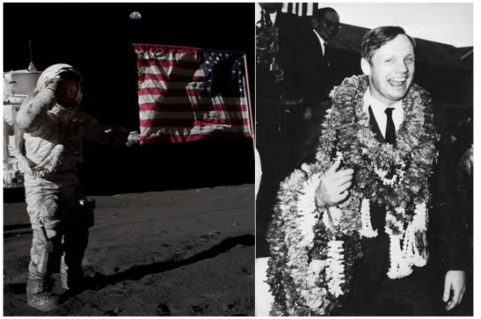 50 Years Ago the First Moon Walk; Two Months Later the Astronauts First Thai Walk
