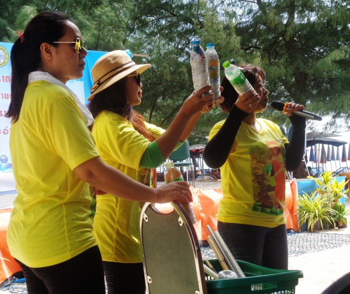 Cha-Am in Training for World Cleanup Day