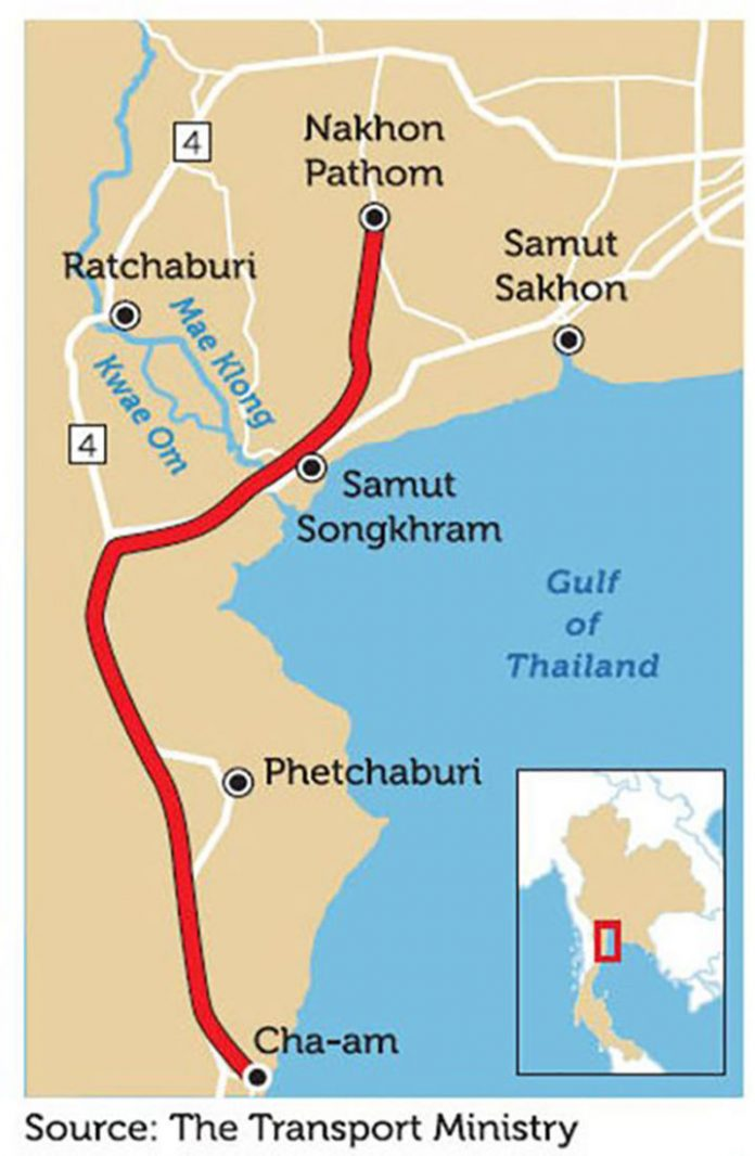Government to Speed up Megaprojects Including the Nakhon Pathom - Cha-Am Motorway