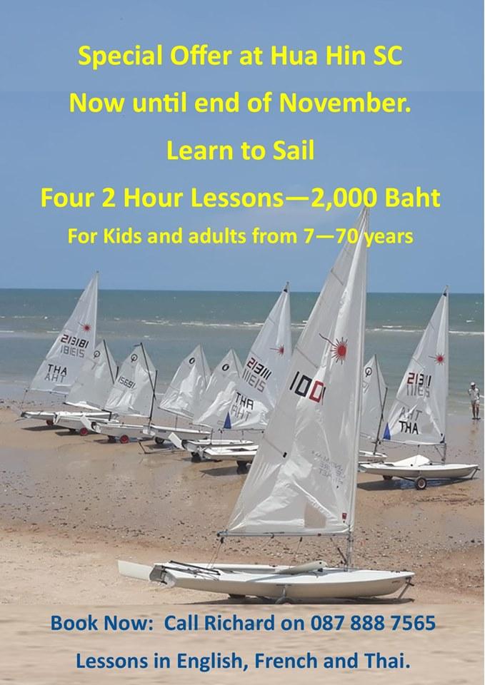 Learn To Sail at the Sailing Club Hua Hin