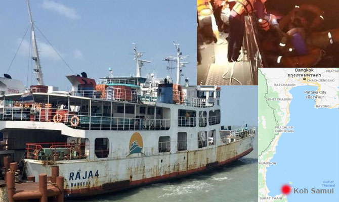 KOH SAMUI FERRY DISASTER – CAPTAIN'S BODY RECOVERED, FOUR REMAIN MISSING