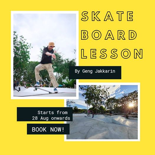 THE HUA HIN SKATE BOARD PARK; LESSONS AVAILABLE THIS MONTH