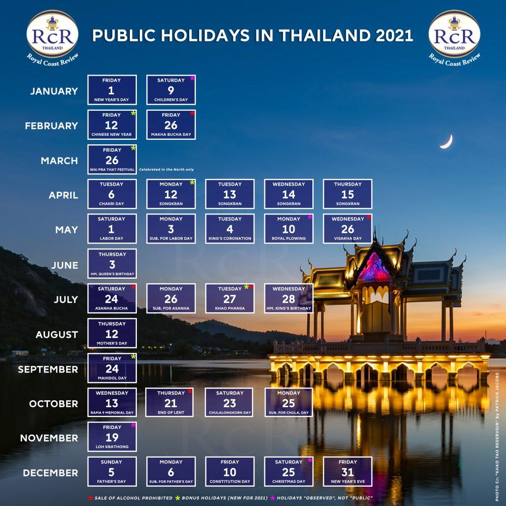 THAI PUBLIC HOLIDAYS 2021