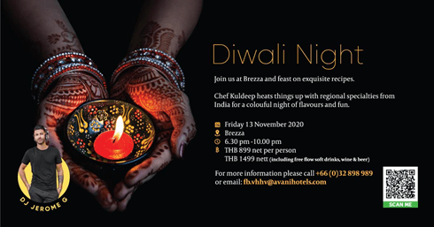 A DIVINE INDIAN DINING EXPERIENCE ON DIWALI NIGHT AT THE AVANI+ HUA HIN