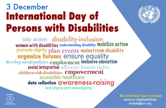 INTERNATIONAL DAY OF PEOPLE WITH DISABILITIES - December 3rd