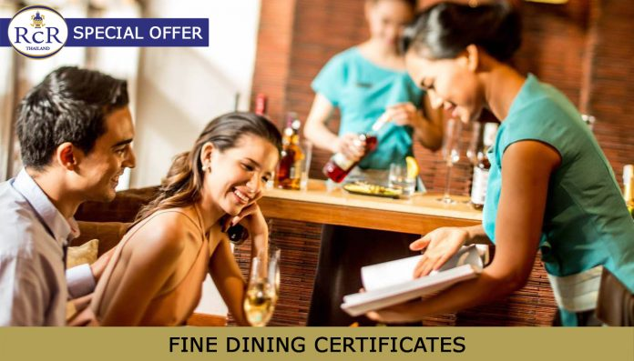 FINE DINING GIFT CERTIFICATES – A ROYAL COAST REVIEW SPECIAL OFFER!