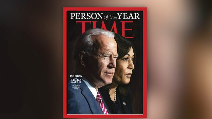 BIDEN/HARRIS NAMED TIME MAGAZINE 'PERSON OF THE YEAR'