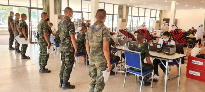 HUA HIN ARMY CADETS ARE STAR BLOOD DONORS