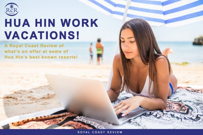 Girl on the Beach Working - Hua Hin -Workcation - Royal Coast Review