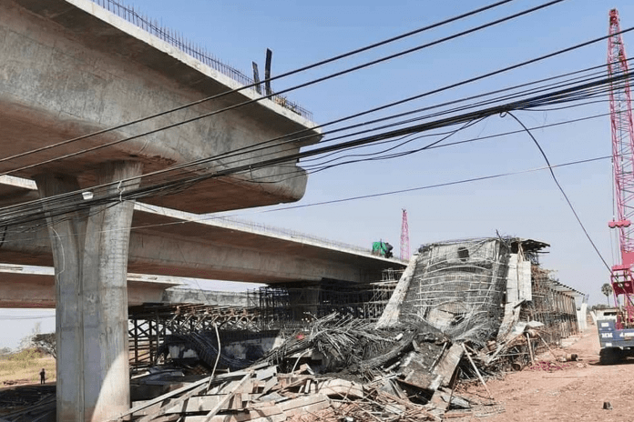 ELEVATED ROAD COLLAPSES IN NAKHON RATCHASIMA