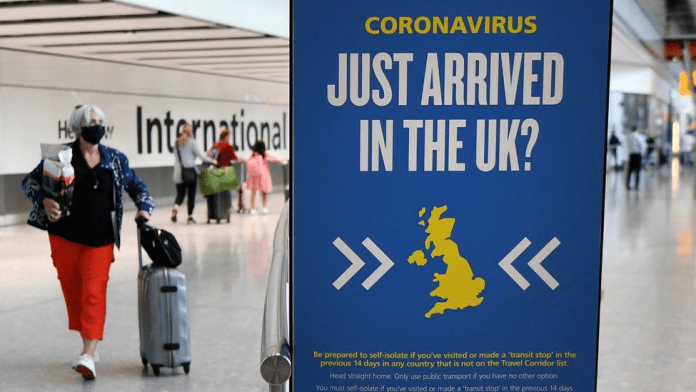 NEGATIVE COVID TEST REQUIRED BEFORE DEPARTING FOR ENGLAND
