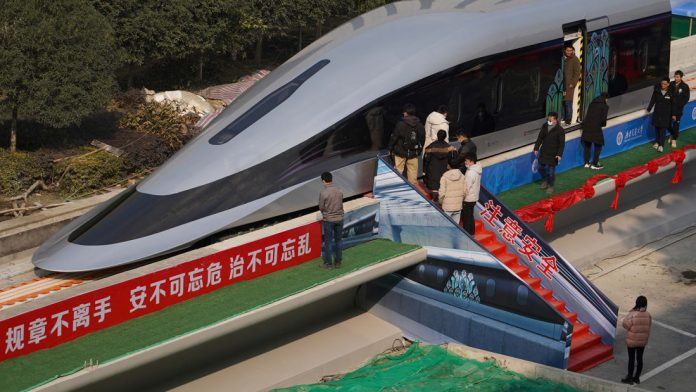 OVER 600 KPH FOR CHINA'S MAGLEV TRAIN