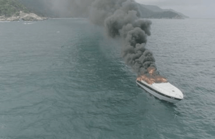MALL GROUP EXECUTIVE'S LUXURY YACHT GOES UP IN SMOKE