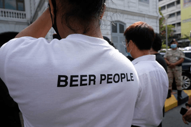 'BEER PEOPLE' SPIRITED PROTEST AS THEY TRY TO SURVIVE