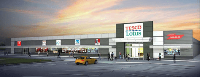 NEW TESCO-LOTUS UNDER CONSTRUCTION IN CHA-AM