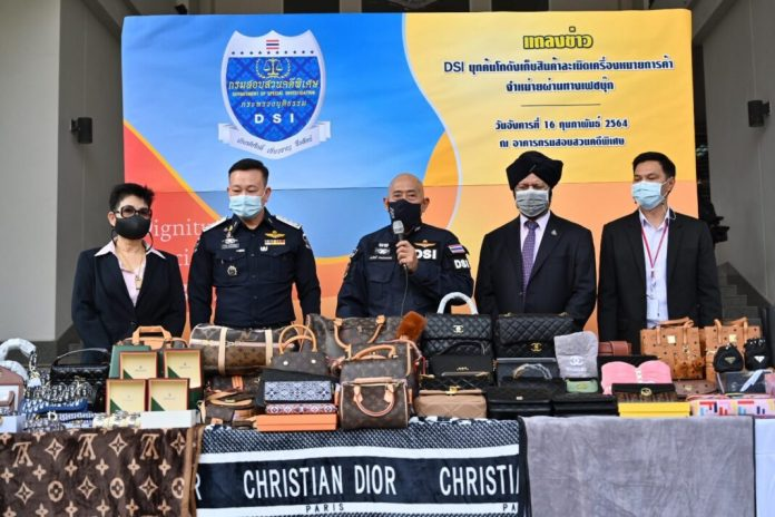 FAKE FASHION ITEMS VALUED AT OVER 100 MILLION THB SEIZED IN BANGKOK