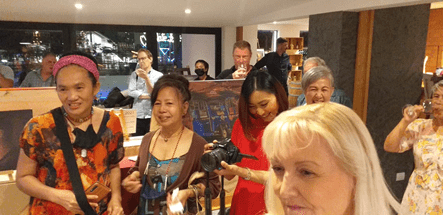 FRATERNISING WITH FRIENDS: A WONDERFUL EVENING OF GOOD CHEER, GOOD ART AND GOOD DEEDS