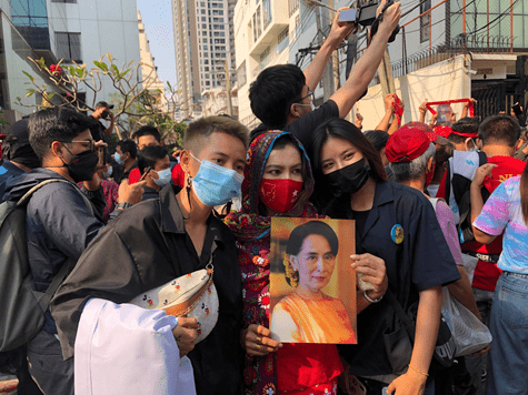 WORLD LEADERS AND THAI PROTESTERS CONDEMN THE LOSS OF DEMOCRACY IN MYANMAR