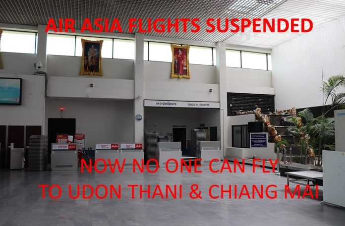 HUA HIN AIRPORT SUSPENDS UDON THANI & CHIANG MAI FLIGHTS AFTER COVID SCARE