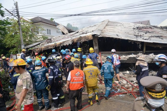 BANGKOK FIRE AND BUILDING COLLAPSE KILLS AT LEAST FIVE