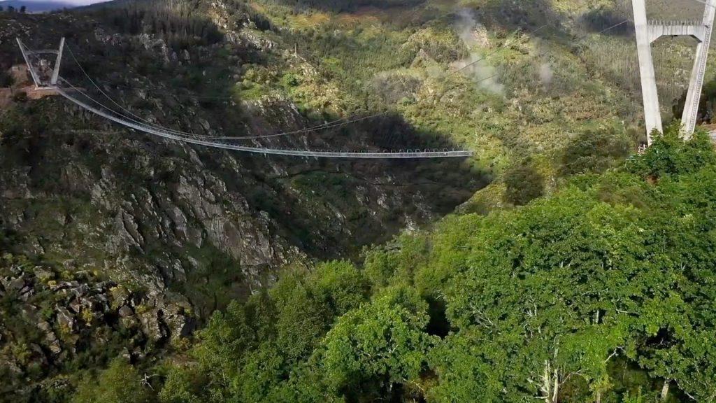 HIGH ANXIETY ON THE WORLD'S LONGEST PEDESTRIAN SUSPENSION BRIDGE