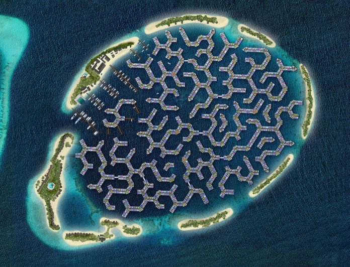 THE MALDIVES 'FLOATING CITY' -  PAVING THE WAVES
