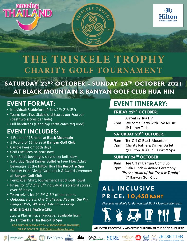 CHARITY GOLF AT THE 2021 TRISKELE TROPHY – TIME FOR TEAM REGISTRATIONS FOR A CHANCE TO ADD YOUR NAME TO THE CRYSTAL